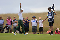 Brandon Stone (RSA) eagles the 16th to go to 20 under par during the final round of the Aberdeen Standard Investments Scottish Open, Gullane Golf Club, Gullane, East Lothian, Scotland. 15/07/2018.<br /> Picture Fran Caffrey / Golffile.ie<br /> <br /> All photo usage must carry mandatory copyright credit (&copy; Golffile | Fran Caffrey)