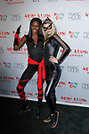 Zuri Tibby (left) and guest arrive at Heidi Klum's 18th Annual Halloween Party presented by Party City and SVEDKA Vodka at Magic Hour Rooftop Bar & Lounge at Moxy Times Square, on October 31, 2017.
