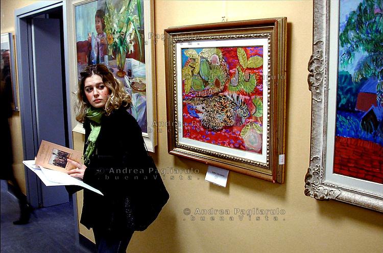 Milano, mostra di quadri. <br /> Milan, painting exibition.