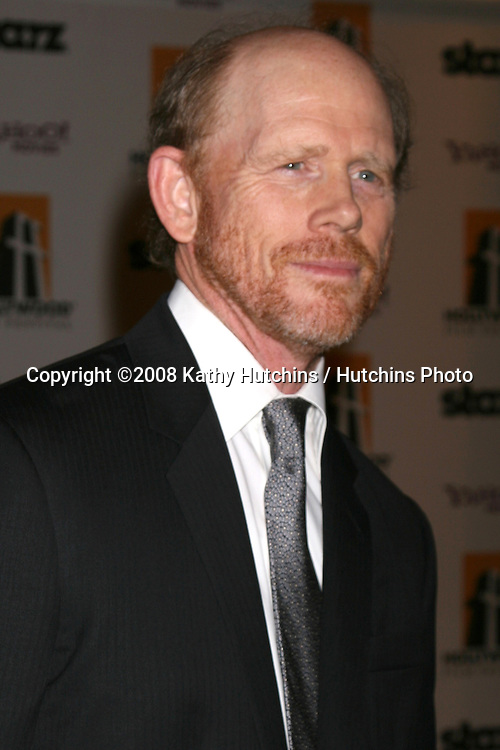 Ron Howard arriving to the Hollywood Film Festival Awards Gala at the Beverly Hilton Hotel in Beverly Hills, CA  on.October 27, 2008.©2008 Kathy Hutchins / Hutchins Photo...                .
