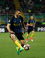 Antonio Candreva  during the  italian serie a soccer match,between Inter FC  and SSC Napoli      at  the San Siro   stadium in Milan  Italy , April  30, 2017