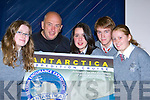 World famous adventurer Pat Falvey from Beaufort who is looking for a student from the Itermediatte School Killorglin to join him on an Antarctica Exhibition Cruise in honour of Tom Crean l-r: Alice O'Connor, Pat Falvey, Karen O'Neill, Patrick Crowe and Aisling O'Mahony      Copyright Kerry's Eye 2008