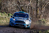 10th February 2019, Galway, Ireland; Galway International Rally; Declan Boyle and Brian Boyle (Ford Fiesta R5) lie in 9th position after 3 stages