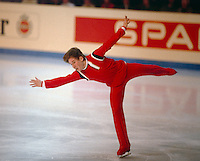 Alexandr Fadeev Russian figure skater competes at the 1984 World Figure Skating Championships in Ottawa, Canada. Photo copyright Scott Grant.