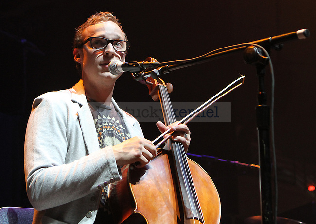 Ben Sollee opened for My Morning Jacket, at Memorial Coliseum, on Sunday, April 17, 2011.  Photo by Latara Appleby | Staff