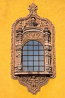 Spanish colonial window in the city of San Luis Potosi, Mexico