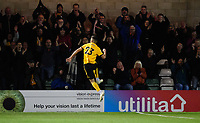 Wolverhampton Wanderers U21's Ryan Giles celebrates scoring his side's second goal<br /> <br /> Photographer Chris Vaughan/CameraSport<br /> <br /> The EFL Checkatrade Trophy Northern Group H - Lincoln City v Wolverhampton Wanderers U21 - Tuesday 6th November 2018 - Sincil Bank - Lincoln<br />  <br /> World Copyright © 2018 CameraSport. All rights reserved. 43 Linden Ave. Countesthorpe. Leicester. England. LE8 5PG - Tel: +44 (0) 116 277 4147 - admin@camerasport.com - www.camerasport.com