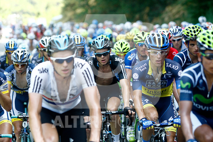 Christopher Froome during the stage of La Vuelta 2012 between Barakaldo and Valdezcaray.August 21,2012. (ALTERPHOTOS/Paola Otero)