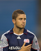 New England Revolution midfielder Chris Tierney (8). The New England Revolution defeated Pumas UNAM in SuperLiga group play, 1-0, at Gillette Stadium on July 14, 2010.