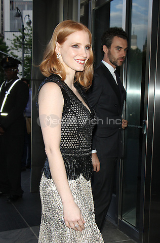 05 09, 2016: Jessica Chastain, Gian Luca at Jazz At Lincoln Center 2016 Gala at Jazz at Lincoln Center in New York. Credit:RW/MediaPunch
