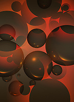 Abstract backgrounds pattern of overlapping spheres
