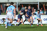 Robbie Fergusson of London Scottish during the Greene King IPA Championship match between London Scottish Football Club and Bedford Blues at Richmond Athletic Ground, Richmond, United Kingdom on 25 March 2017. Photo by David Horn / PRiME Media Images.