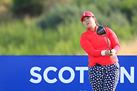 Angel Yin Team USA on the 9th tee during Day 1 Fourball at the Solheim Cup 2019, Gleneagles Golf CLub, Auchterarder, Perthshire, Scotland. 13/09/2019.<br /> Picture Thos Caffrey / Golffile.ie<br /> <br /> All photo usage must carry mandatory copyright credit (© Golffile | Thos Caffrey)