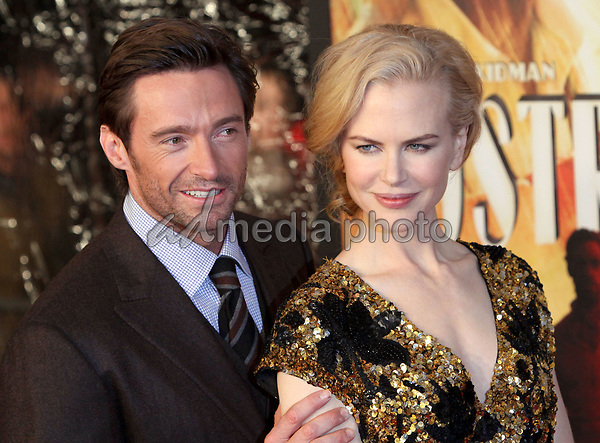 24 November 2008- New York, NY- Hugh Jackman and Nicole Kidman arriving to the New York Premiere of Australia.<br /> Photo Credit: Paul Zimmerman/AdMedia