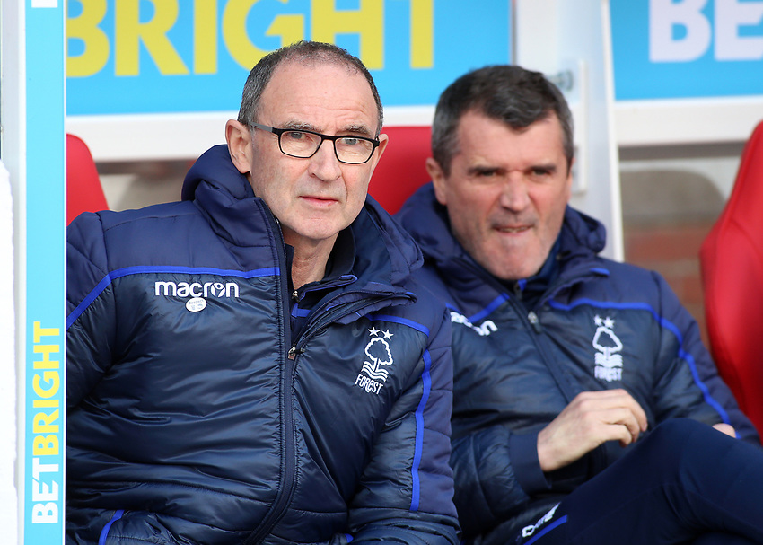 Nottingham Forest manager Martin O'Neil looks on from the dugout<br /> <br /> Photographer David Shipman/CameraSport<br /> <br /> The EFL Sky Bet Championship - Nottingham Forest v Blackburn Rovers - Saturday 13th April 2019 - The City Ground - Nottingham<br /> <br /> World Copyright © 2019 CameraSport. All rights reserved. 43 Linden Ave. Countesthorpe. Leicester. England. LE8 5PG - Tel: +44 (0) 116 277 4147 - admin@camerasport.com - www.camerasport.com