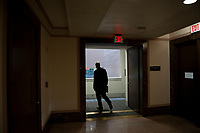 """United States Senator Ron Johnson (Republican of Wisconsin), Chairman, US Senate Committee on Homeland Security and Government Affairs, makes his exit following a Senate Homeland Security and Governmental Affairs business meeting to consider a motion to authorize the Chairman to issue notices for taking depositions, subpoenas for records, and subpoenas for testimony, to individuals relating to the Federal Bureau of Investigation's Crossfire Hurricane Investigation; the DOJ Inspector General's review of that investigation; and the """"unmasking"""" of U.S. persons affiliated with the Trump campaign, transition team, and Trump administration, as described in Schedule A (Items 1-3), and the nominations of John Gibbs, of Michigan, to be Director of the Office of Personnel Management, and John M. Barger, of California, Christopher Bancroft Burnham, of Connecticut, and Frank Dunlevy, of California, each to be a Member of the Federal Retirement Thrift Investment Board.in the Dirksen Senate Office Building on Capitol Hill in Washington, DC., Wednesday, September 16, 2020. <br /> Credit: Rod Lamkey / CNP /MediaPunch"""
