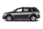 Car Driver side profile view of a 2014 Fiat FREEMONT LOUNGE 5 Door SUV 2WD Side View
