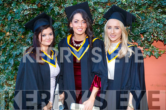 Alana Poff (Brandon) Katie O'Sullivan (Farranfore) and Diane O'Connor (Killorglin), all who graduated in General Nursing at IT, Tralee on Friday morning last, at the Brandon Conference Centre, Tralee.