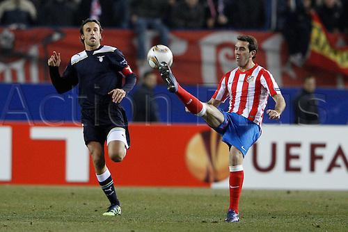 23.02.2012, SPAIN -  UEFA Europa League match played between Atletico de Madrid vs S.S. Lazio (1-0) at Vicente Calderon stadium. Picture show
