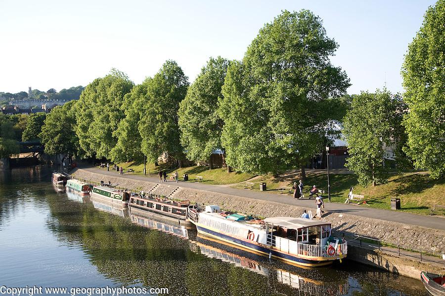 Boats River Avon Bath England