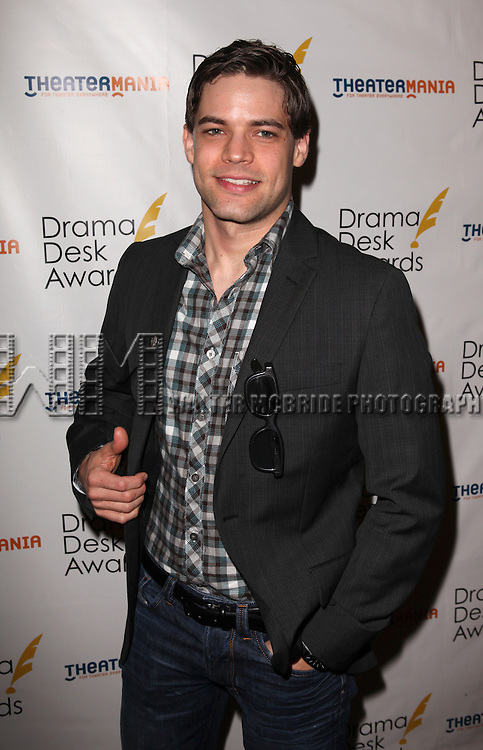 Jeremy Jordan.attending the 57th Annual Drama Desk Nominees Reception at Oceana Restaurant in New York City on 5/8/2012. © Walter McBride/WM Photography .