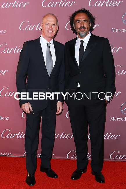PALM SPRINGS, CA, USA - JANUARY 03: Michael Keaton, Alejandro Gonzalez Inarritu arrive at the 26th Annual Palm Springs International Film Festival Awards Gala Presented By Cartier held at the Palm Springs Convention Center on January 3, 2015 in Palm Springs, California, United States. (Photo by David Acosta/Celebrity Monitor)