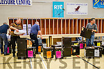Packing the ballot papers at the Kerry General Election Count in Killarney.