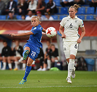 20170721 - TILBURG , NETHERLANDS : German Kristin Demann (R) and Italian Valentina Cernoia (L)  pictured during the female soccer game between Germany and Italy  , the second game in group B at the Women's Euro 2017 , European Championship in The Netherlands 2017 , Friday 21 th June 2017 at Stadion Koning Willem II  in Tilburg , The Netherlands PHOTO SPORTPIX.BE | DIRK VUYLSTEKE