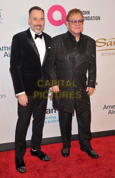 New York,NY-November 2: David Furnish, Elton John attend Elton John AIDS Foundation's 14th Annual An Enduring Vision Benefit at Cipriani Wall Street on November 2, 2015 in New York City.. <br /> CAP/MPI/STV<br /> &copy;STV/MPI/Capital Pictures