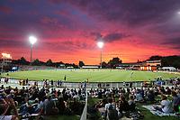 General view of Seddon Park. New Zealand Blackcaps v England. Tri-Series International Twenty20 cricket. Seddon Park, Hamilton, New Zealand on Sunday 18 February 2018.<br /> <br /> Copyright photo: &copy; Bruce Lim / www.photosport.nz
