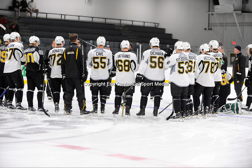 July 14, 2015 - Wilmington, Massachusetts, U.S. -  The Boston Bruins opened their development camp at Ristuccia Arena Tuesday morning hosting a field of 37 participants in Wilmington Massachusetts. Eric Canha/CSM