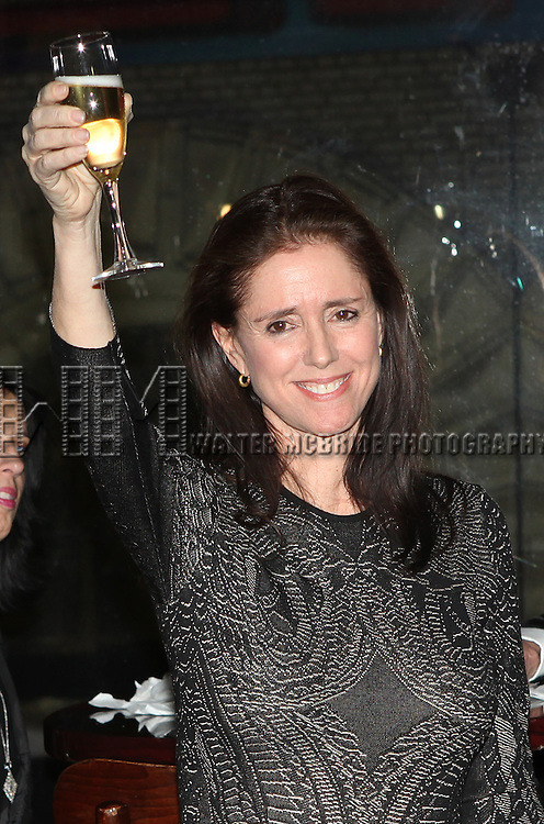 Julie Taymor.attending the 'Spider-Man Turn Off The Dark' Benefit for The Actors Fund at a Pre-Show Cocktail Reception held at Sardi's Restaurant in New York City