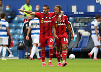 Anthony Knockaert of Fulham gives Bobby Reid of Fulham some advice during Queens Park Rangers vs Fulham, Sky Bet EFL Championship Football at the Kiyan Prince Foundation Stadium on 30th June 2020