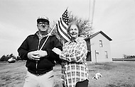 February 1983, Halstead, Essex, England, UK. Keith Shive and his wife. On March 1, 1982, Shive founded the Farmer Liberation Movement. Image by © JP Laffont