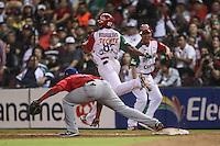 Yuniesky Betancourt, durante el  partido final de la Serie del Caribe en el nuevo Estadio de  los Tomateros en Culiacan, Mexico, Martes  7 Feb 2017. Foto: AP/Luis Gutierrez