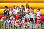 BOUNCY CASTLE: Children from Rainbow Preschool/Daycare, Racecourse Road, Tralee, at their end of year party.which took place on Friday. Front row l-r: Emma Horan, Sophie Pierce, Peter Claro, Patricia Gutteridge, Rosie Kennelly,.Allen Wall Griffin and Cian Lynch. Middle row l-r: Cian Ziglinskey, Caoimhe Casey, Dylan Harris, Tristen OBrien,.Cian Wall, Seamus Knightly and Ciara Knightly. Back row l-r: Joseph Claro, Grace OSullivan, Cian Purcell, Leah Galloway,.Darragh OConnor, Leah Horan and Jade Harkin.