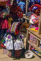 Guatemala, mercato di Chichicastenango.<br /> Guatemala, Chichicastenango market