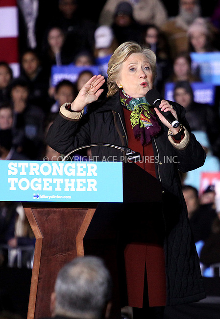 www.acepixs.com<br /> <br /> October 22 2016, Philadelphia<br /> <br /> Hillary Clinton campaigns for President of the United States at the University of Pennsylvania on October 22, 2016 in Philadelphia, Pennsylvania.<br /> <br /> By Line: William T Wade Jr/ACE Pictures<br /> <br /> <br /> ACE Pictures Inc<br /> Tel: 6467670430<br /> Email: info@acepixs.com<br /> www.acepixs.com