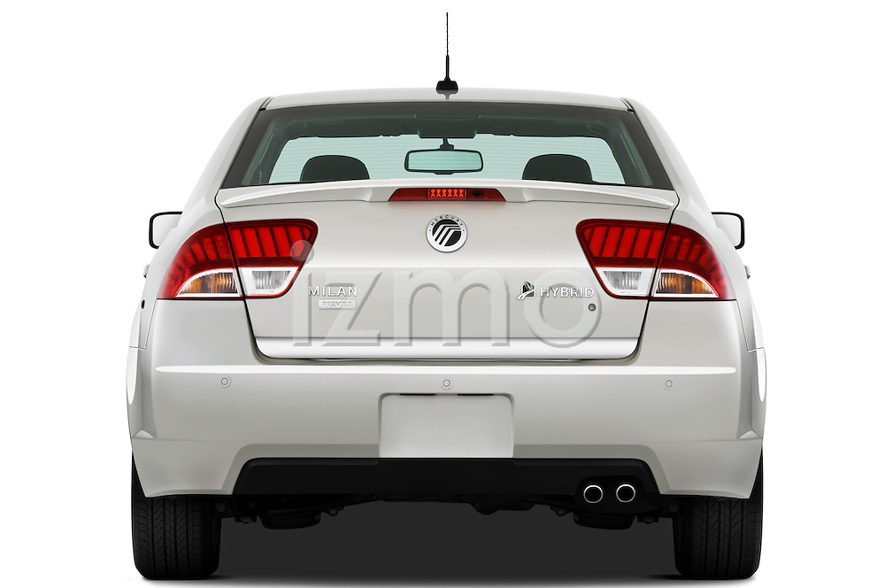 Straight rear view of a 2010 Mercury Milan Hybrid