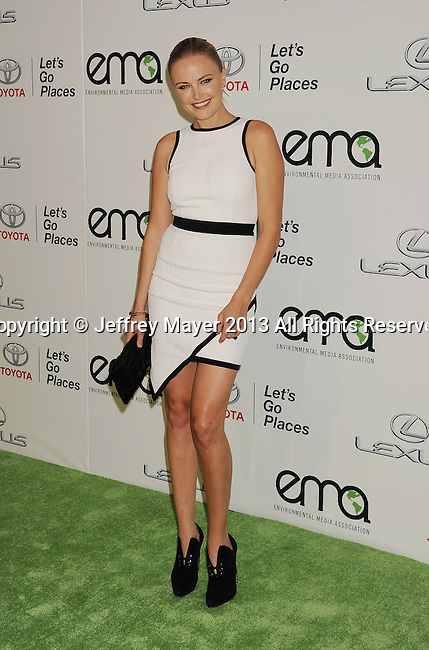 BURBANK, CA- OCTOBER 19: Actress Malin Akerman arrives at the 2013 Environmental Media Awards at Warner Bros. Studios on October 19, 2013 in Burbank, California.