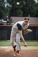 (Photo by Kirby Lee, Freelance Photographer)<br /> <br /> Occidental College's baseball team plays against Cal Lutheran University on Sunday, May 8, 2016 at Anderson Field in the SCIAC Postseason Tournament.<br /> <br /> (Photo by Kirby Lee, Freelance Photographer)