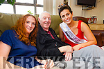 Pictured at the Palliative Care Unit, Tralee on Friday morning as they met reigning Rose of Tralee Maria Walsh, l-r: Therese Comer and Joe Hutchinson, Beaufort, Killarney.