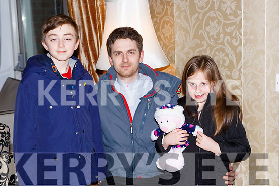 Conor, Killian and Ava O'Grady at the Muckross Concert in the Killarney Oaks Hotel on Thursday night