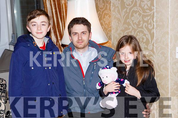 Conor, Killian and Ava O'Grady at the Muckross Concert in the Killarney Oaks Hotel on Thursday night