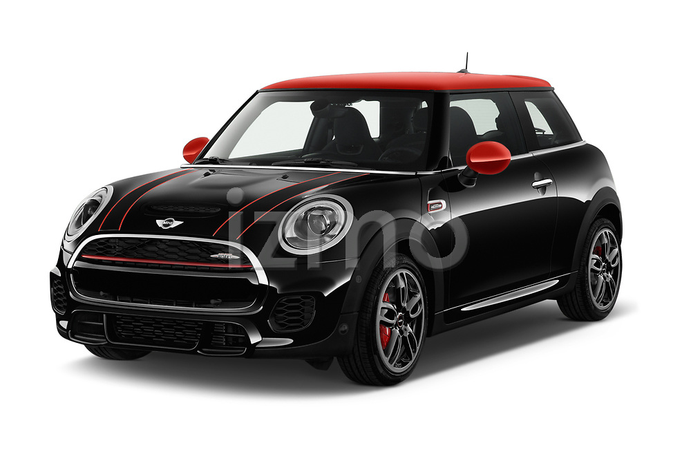 2017 Mini MINI John Cooper Works 3 Door Hatchback angular front stock photos of front three quarter view