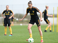 20180304 - LARNACA , CYPRUS :  Belgian Tessa Wullaert pictured during a Matchday -1 training from The Belgian Red Flames prior to their game against Austria , on Sunday 4 March 2018 at the Alpha Sports Grounds in Larnaca , Cyprus . This will be the third game in group B for Belgium during the Cyprus Womens Cup , a prestigious women soccer tournament as a preparation on the World Cup 2019 qualification duels. PHOTO SPORTPIX.BE | DAVID CATRY