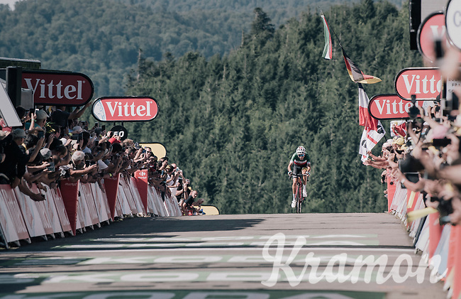 Italian Champion Fabio Aru (ITA/Astana) solo's to victory on top of the Planche des Belles Filles<br /> <br /> 104th Tour de France 2017<br /> Stage 5 - Vittel &rsaquo; La Planche des Belles Filles (160km)