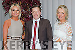 Karen Cronin, Philip O'Cnnor and Norita Cronin at the Killarney Mayor ball in aid of the Irish cancer society at the Malton Hotel on Sunday night