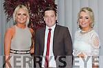 Karen Cronin, Philip O'Cnnor and Norita Cronin at the Killarney Mayor ball in aid of the Irish cancer society at the Malton Hotel on Sunday night