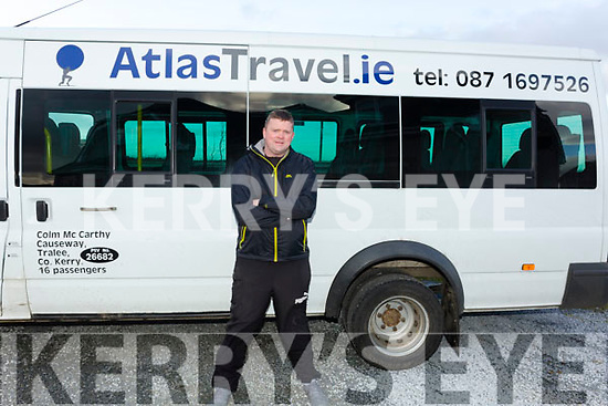 Colm McCarthy of AtlasTravel.iea tour company in Ballinglana Causeway.